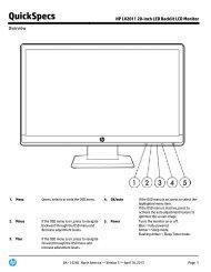 HP LV2011 20-inch LED Backlit LCD Monitor