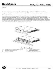 HP Intelligent Power Distribution Unit (iPDU)