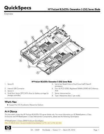 hp proliant bl460c generation 8  gen8  server blade spectra HP DL380 G7 hp proliant bl460c g7 user guide
