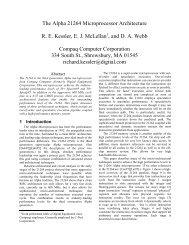 The Alpha 21264 Microprocessor Architecture R. E. Kessler, E. J. ...