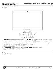 HP Compaq L2105tm 21.5-inch Widescreen Touchscreen Monitor