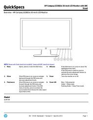 HP Compaq LE2002xi 20-inch LCD Monitor with IWC Stand