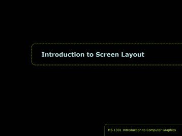 Introduction to Screen Layout - Personal Home Pages (at UEL ...