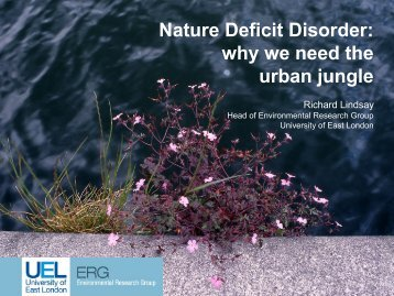 Nature Deficit Disorder - Personal Home Pages (at UEL) - University ...