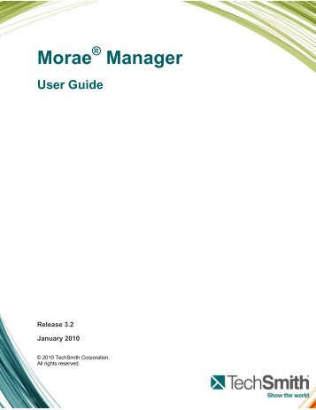 Morae Manager - Personal Home Pages (at UEL)