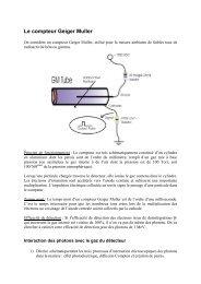 Le compteur Geiger Muller - LPSC