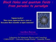 Black holes and quantum fields - LPSC - IN2P3