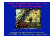 Phenomenolgy of Loop Quantum Gravity - LPSC - IN2P3