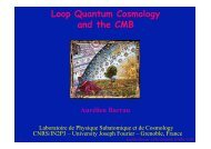 Loop Quantum Cosmology and the CMB - LPSC - IN2P3