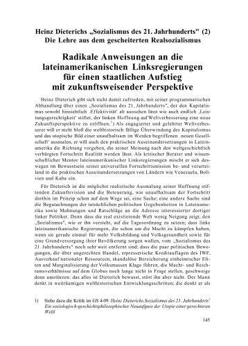 """Heinz Dieterichs """"Sozialismus des 21. Jahrhunderts"""" (2) - Neoprene"""