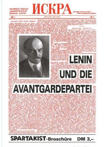 Lenin und die Avantgardepartei - Neoprene