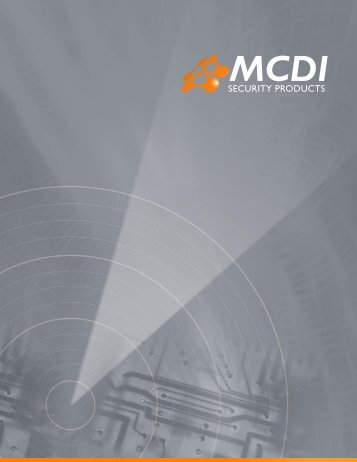 MCDI Security Products 2006-2007 CATALOG