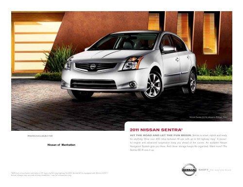 2011 Nissan Sentra | Brochure | Nissan USA - Dealer