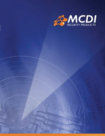 MCDI SECURITY PRODUCTS - 2009 CATALOG