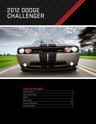 2012 DoDge Challenger - Londonderry Dodge