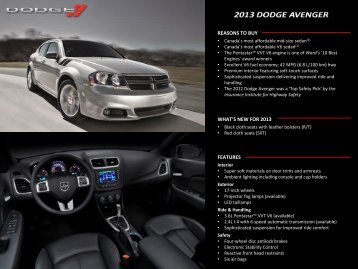 download full specifications - Dodge.ca