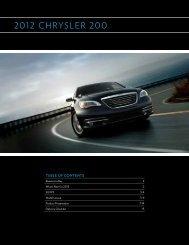 Chrysler 200 Brochure - Londonderry Dodge