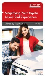Simplifying Your Toyota Lease-End Experience. - Dealer