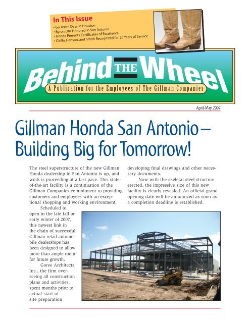 Gillman Honda Houston >> Gillman Honda San Antonio Building Big For Tomorrow Dealer