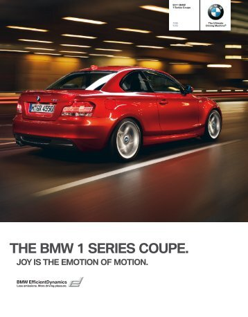 THE BMW 1 SERIES COUPE.