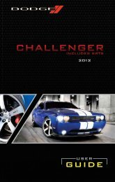 2012 Dodge Challenger User Guide - Dealer