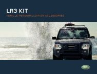 Vehicle personalization accessories - Land Rover
