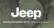 2009 Jeep Grand Cherokee SRT8 Owners Manual - Dealer