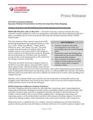 (Page 1 of 3) J.D. Power & Associates Reports: Insurance ... - Dealer