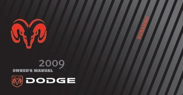 2009 Dodge Durango Owner's Manual - Dodge Durango Tacoma