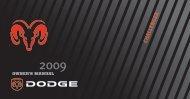 2009 Dodge Challenger Owner Guide - Dealer