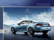 2011 Infiniti G37 Convertible | Brochure | Infiniti USA - Dealer