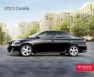 2013 Corolla - Dealer