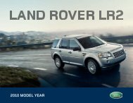 2010 MODEL YEAR - Jaguar Land Rover Harrisburg