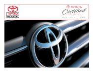 Why Buy Toyota Certified Used Vehicles - Dealer