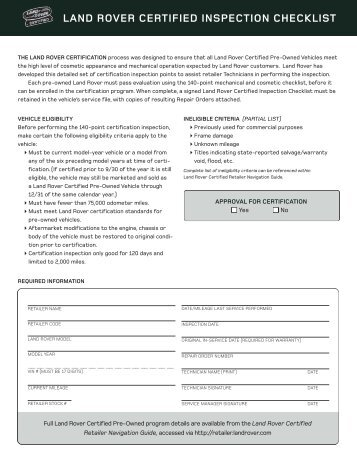 certified pre owned vehicle inspection checklist dealer. Black Bedroom Furniture Sets. Home Design Ideas