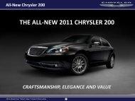THE ALL-NEW 2011 CHRYSLER 200 - Dealer