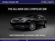 THE ALL-NEW 2011 CHRYSLER 200 - Dealer