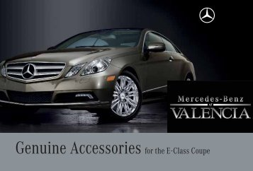Genuine Accessories for the E-Class Coupe - Dealer