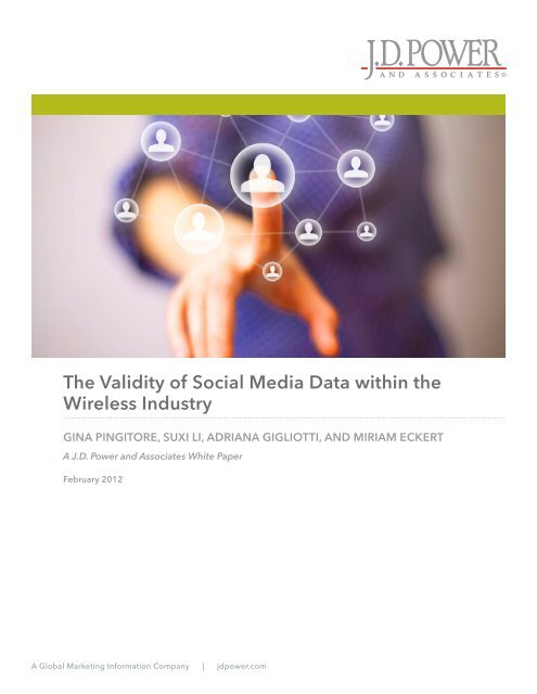 The Validity of Social Media Data within the Wireless Industry - Dealer