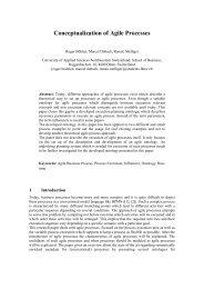 Conceptualization of Agile Processes