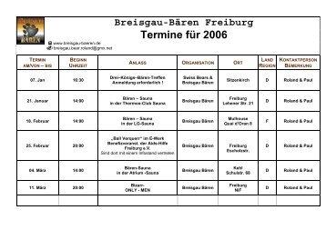 Terminkalender 2006 BBF