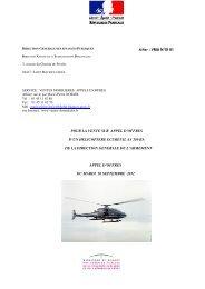 pour la vente sur appel d'offres d'un helicoptere ecureuil as 350 ba ...