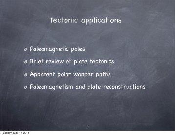 Tectonic applications