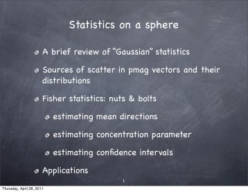 Statistics on a sphere