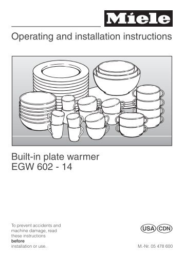 30 Built In Plate Warmer ~ Pic chiller warmer installation and operation manual pdf
