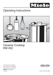 Operating Instructions Ceramic Cooktop KM 452 - Miele.ca