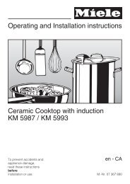 Operating and Installation instructions Ceramic Cooktop ... - Miele.ca