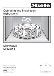 important safety instructions - Miele.ca