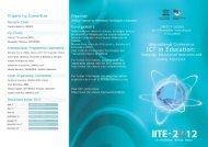 Download flyer - International Conference IITE-2012 - Unesco