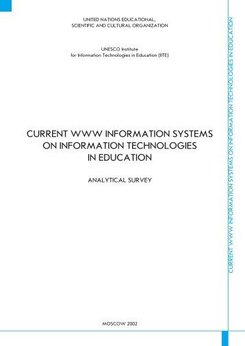 CURRENT WWW INFORMATION SYSTEMS ON ... - unesco iite